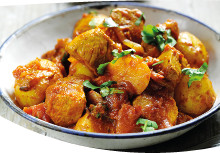 Baked Chicken and Bombay Potatoes