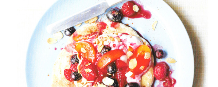 Flatbreads with Summer Fruits