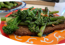 Broccoli & Asparagus on Rye