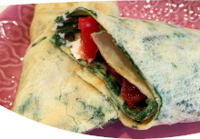 Spinach & Egg Wraps