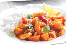 Butternut Squash & Prawn Rogan Josh
