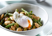 Indian Mixed Beans with Poached Eggs