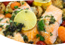 Lemon & Garlic Roast Salmon
